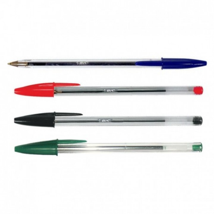 Ручки кулькові BIC Cristal різнокольорові 4 шт. (3086121601033)