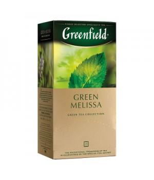 Чай зелений Greenfield Green Melissa з ароматом м'яти та лимона 25х1,5 г