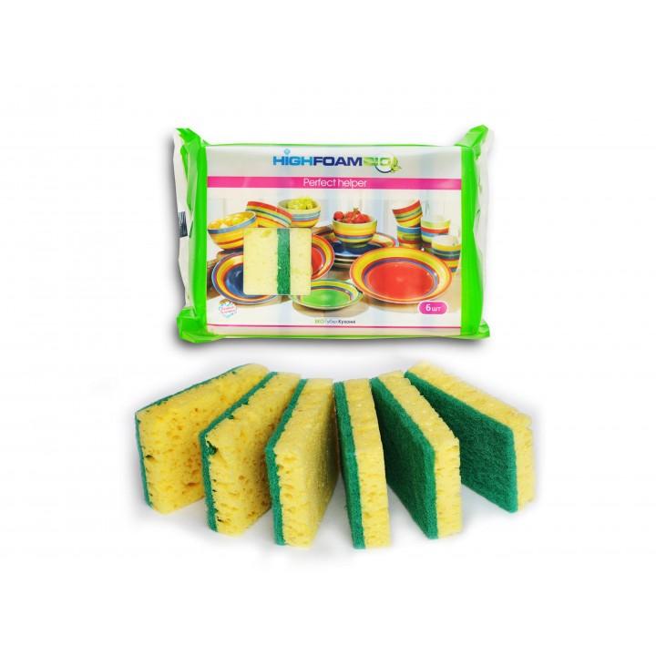 Губки кухонні HighFoam Perfect helper 6 шт. (4820178150224)