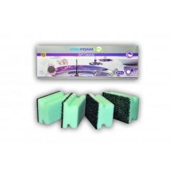 Губки кухонні HighFoam Soft Cleaner 3+1 шт.