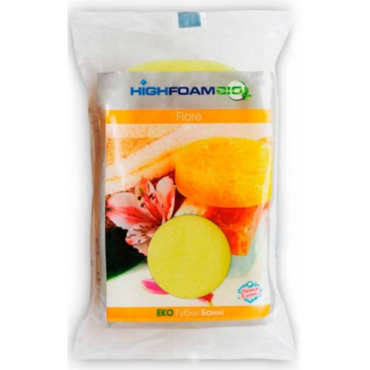 Губка банна HighFoam Fiore 1 шт.  (4820178150286)