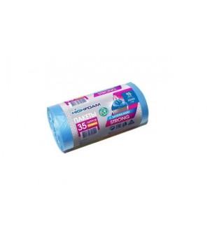 Пакети для сміття з затяжками HighFoam сині 35 л / 15 шт. (4820160790551)