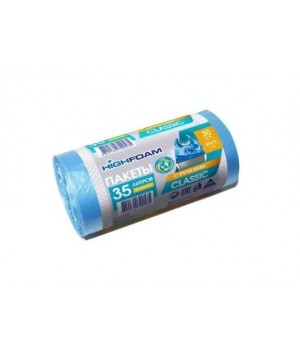 Пакети для сміття з ручками HighFoam сині 35 л / 30 шт. (4820160790575)