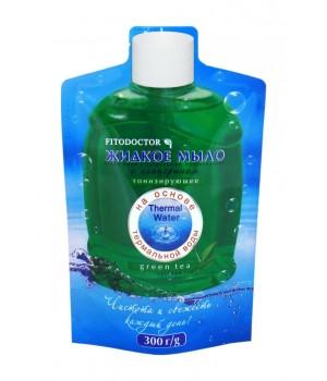 Рідке мило з гліцерином «Зелений чай» тонізувальне (дой-пак) 300 г (4820215052450)