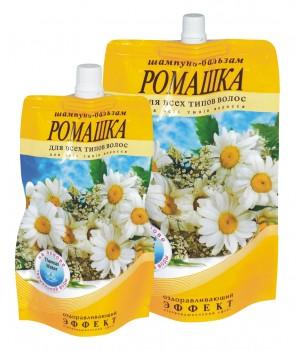 Шампунь-бальзам «Ромашка» оздоровчий для всіх типів волосся (дой-пак) 270 г (4820058763322)