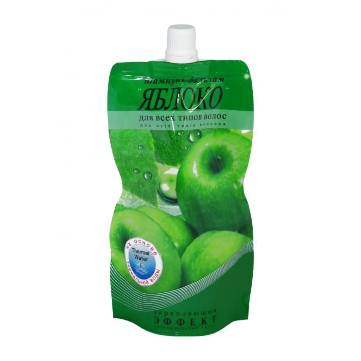 Шампунь-бальзам «Яблуко» зміцнюючий для всіх типів волосся (дой-пак) 270 г (4820058763339)