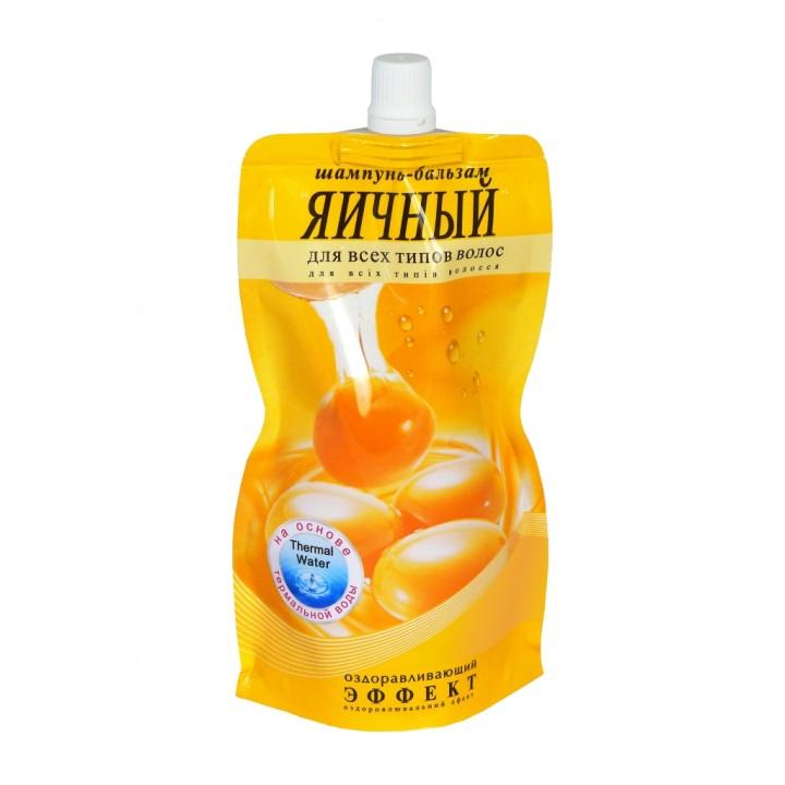 Шампунь-бальзам «Яєчний» оздоровчий для всіх типів волосся (дой-пак) 270 г (4820058763346)