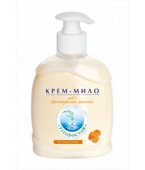 Крем-мило «Мед і зволожувальне молочко» вітамінізувальне 300 г (4820058762141)