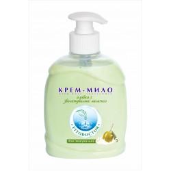 Крем-мило «Оливки і зволожувальне молочко» пом'якшувальне 300 г (4820215052337)