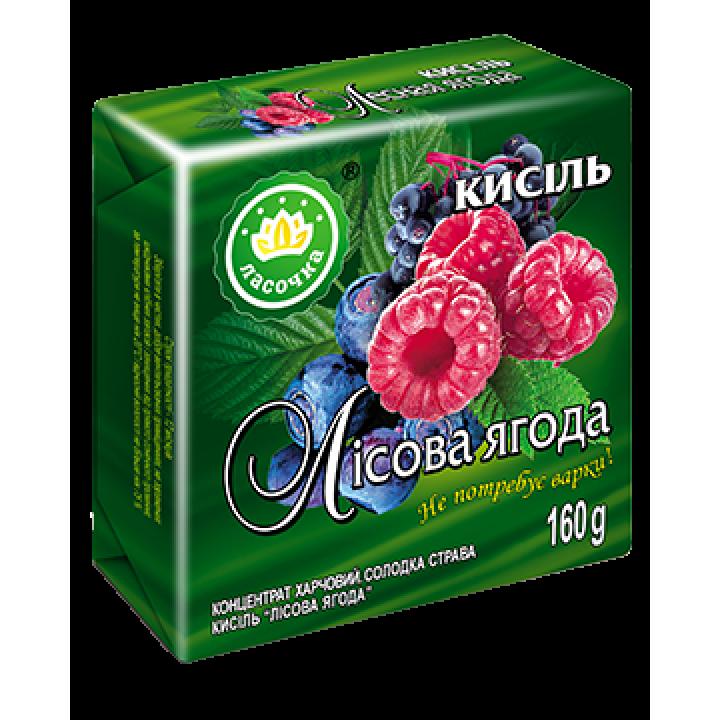 """Кисіль у брикеті """"Ласочка"""" Лісова ягода 160 г"""