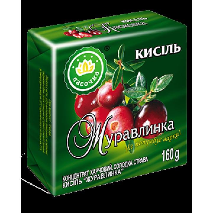"""Кисіль у брикеті """"Ласочка"""" Журавлинка 160 г"""