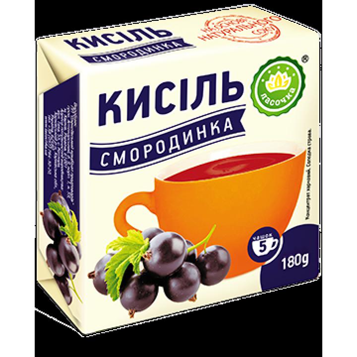 """Кисіль у брикеті """"Ласочка"""" Смородинка 180 г"""