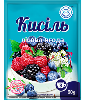 "Кисіль у пакеті ""Ласочка"" Лісова ягода 90 г"