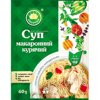 "Суп ""Ласочка"" Макаронний курячий (пакет) 60 г (4820043250370)"