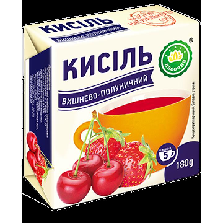 """Кисіль у брикеті """"Ласочка"""" Вишнево-полуничний 180 г"""