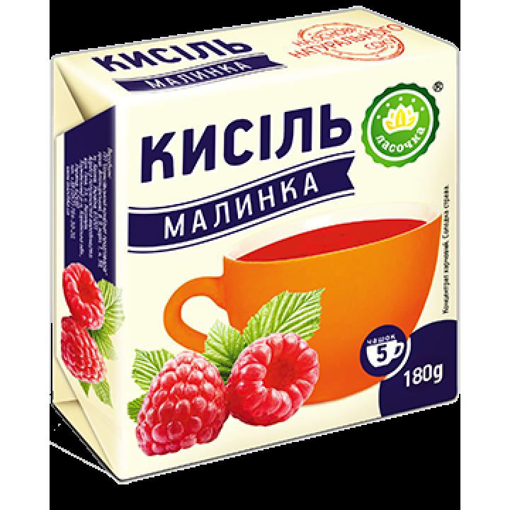 """Кисіль у брикеті """"Ласочка"""" Малинка 180 г"""