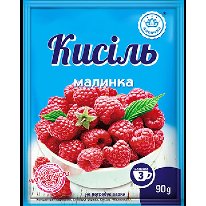 """Кисіль у пакеті """"Ласочка"""" Малинка 90 г"""
