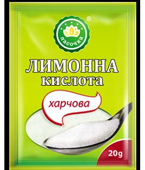 """Лимонна кислота """"Ласочка"""" харчова 20 г (4820043250936)"""