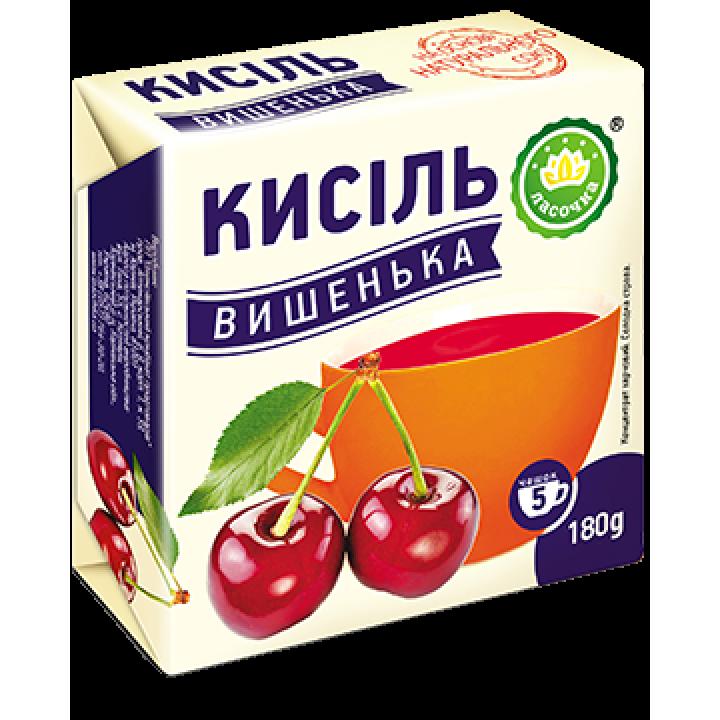 """Кисіль у брикеті """"Ласочка"""" Вишенька 180 г"""