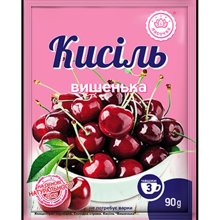 """Кисіль у пакеті """"Ласочка"""" Вишенька 90 г"""