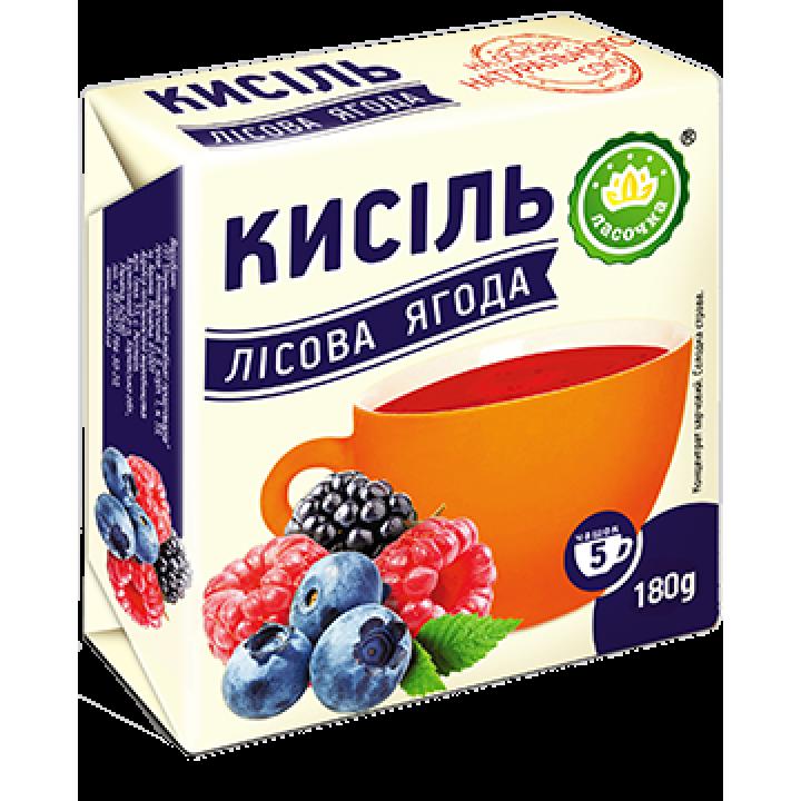 """Кисіль у брикеті """"Ласочка"""" Лісова ягода 180 г"""