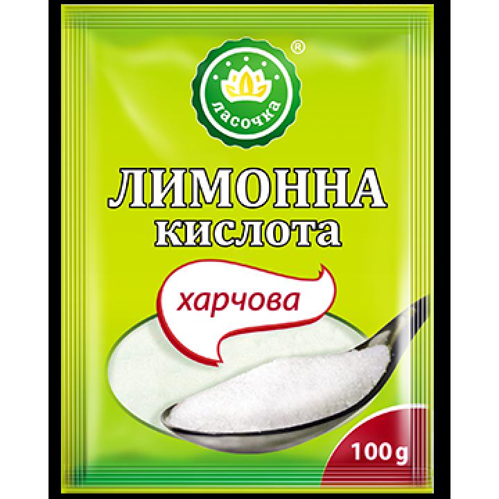 """Лимонна кислота """"Ласочка"""" харчова 100 г (4820043250981)"""