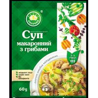 """Суп """"Ласочка"""" Макаронний з грибами (пакет) 60 г"""