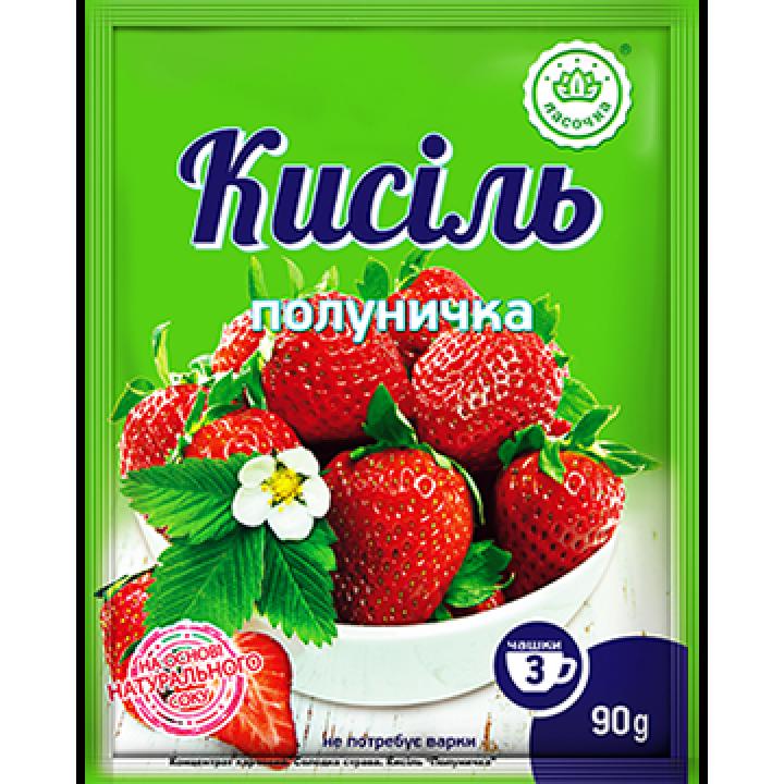 """Кисіль у пакеті """"Ласочка"""" Полуничка 90 г"""