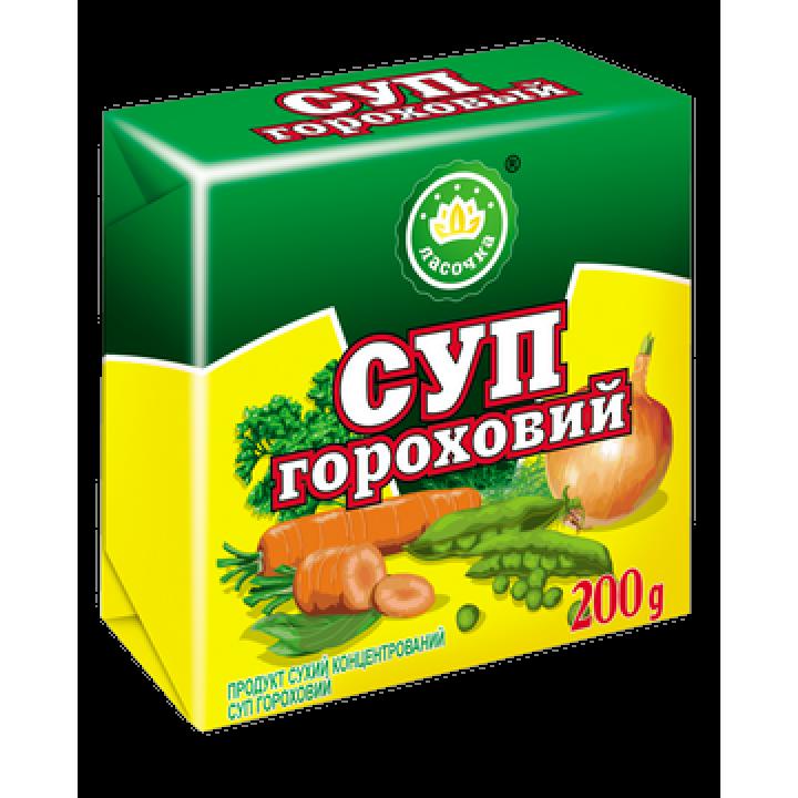"""Суп у брикеті """"Ласочка"""" Гороховий 200 г"""