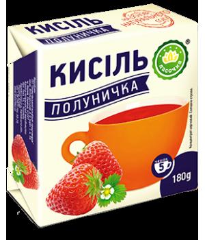 """Кисіль у брикеті """"Ласочка"""" Полуничка 180 г"""