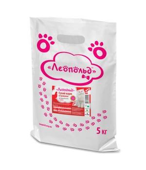 Сухий корм для котів Леопольд в гранулах з куркою 300г (4820185492270)