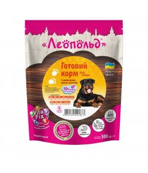 Консерви для собак Леопольд Готовий корм з яловичиною, рисом і овочами 500г (4820185491877)