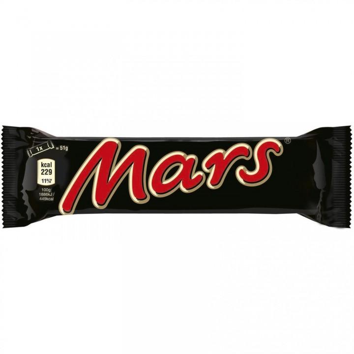 Батончик Mars з нугою і карамеллю в молочному шоколаді 70 г  (4011100091108)
