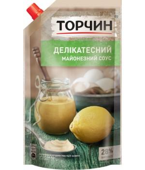"""Майонезний соус """"Торчин"""" Делікатесний 28% дой-пак 580 г (4820001315844)"""