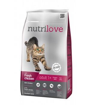 Сухий корм Nutrilove Adult зі свіжою куркою 1,5кг (8595606402447)