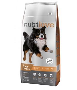 Сухий корм для собак Nutrilove Adult з куркою і рисом 12кг (8595606402362)
