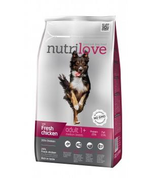 Сухий корм для собак Nutrilove Adult з куркою і рисом 1,6кг (8595606402331)