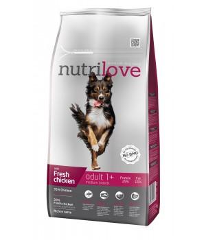 Сухий корм для собак Nutrilove Adult з куркою і рисом 8кг (8595606402348)
