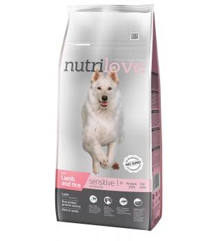Сухий корм для собак Nutrilove Sensitive з ягням і рисом 12кг (8595606402423)