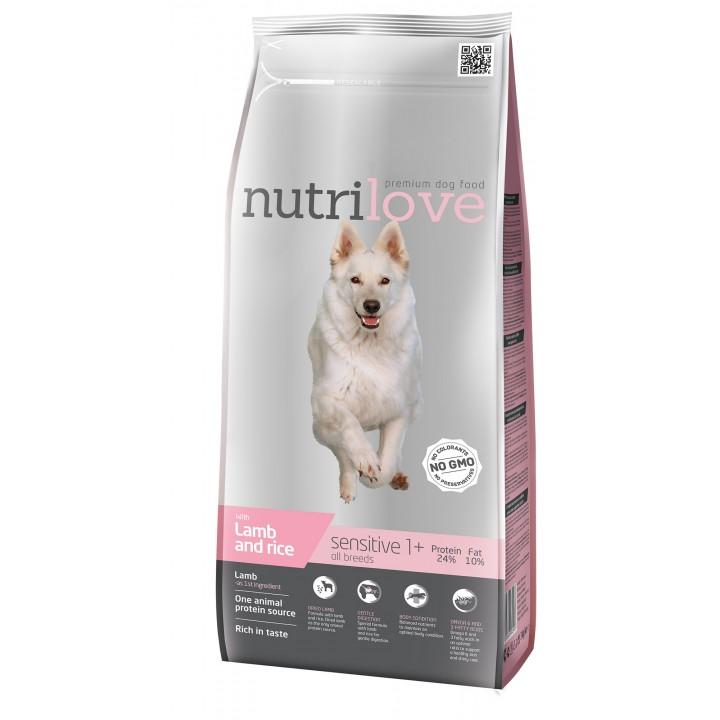 Сухий корм для собак Nutrilove Sensitive з ягням і рисом 3кг (8595606402416)