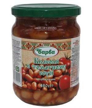 """Квасоля """"Барва"""" в томатному соусі 480 г (4820217900216)"""