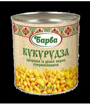 "Кукурудза цукрова ""Барва"" консервована ж/б 420 г (4820141690269)"