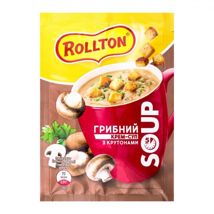 Крем-суп Rollton Грибний з крутонами 15,5 г (4820179254341)