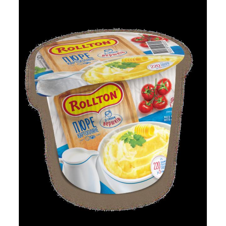 Пюре картопляне Rollton зі смаком вершків (стакан) 37 г