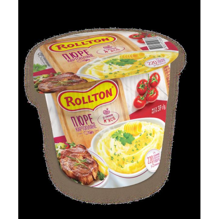 Пюре картопляне Rollton зі смаком м'яса (стакан) 40 г