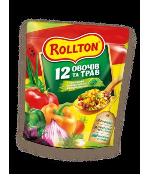 Приправа універсальна гранульована Rollton 12 овочів і трав 110 г (4820179251234)
