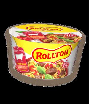 Локшина яєчна швидкого приготування Rollton по-домашньому з яловичиною (чашка) 75 г (4820179251593)