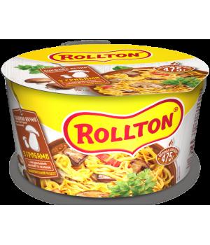Локшина яєчна швидкого приготування Rollton по-домашньому з грибами (чашка) 75 г (4820179253726)