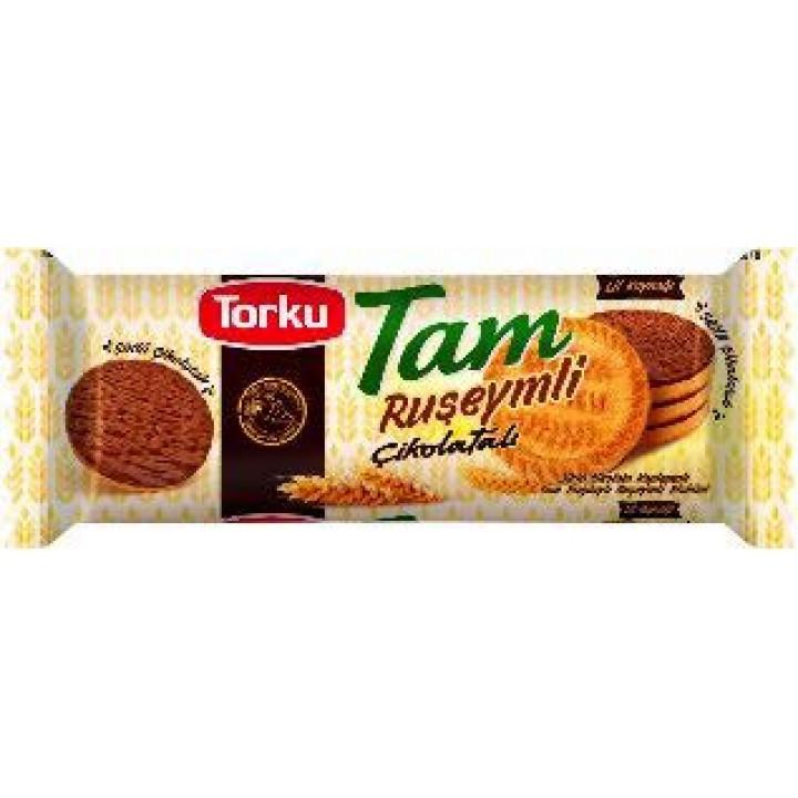 Печиво TorkuTamцільнозерновезпророщеноїпшеницівшоколаднійглазурі84 г (8690120105475)