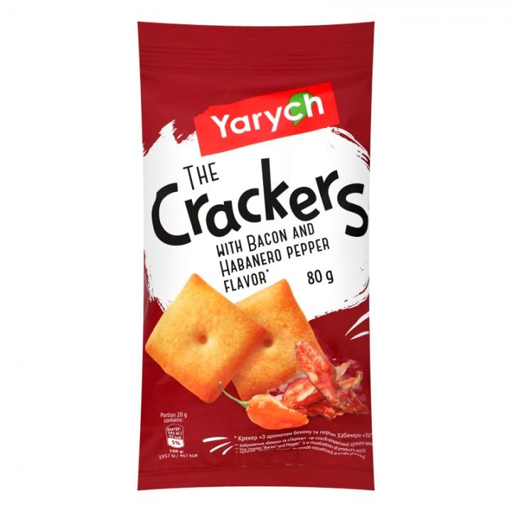 Крекер Yarych З ароматом бекону та перцю Хабанера 80 г  (4820154483834)